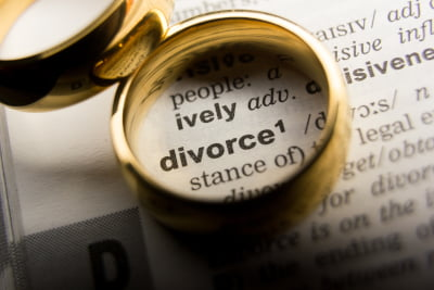 Dictionary definition of Divorce following on separation agreements