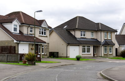Photo of modern houses for estate agency services