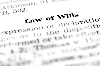 Image of a dictionary definition of the Law of Wills