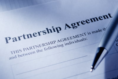 Image of the opending page of a Partnership Agreement