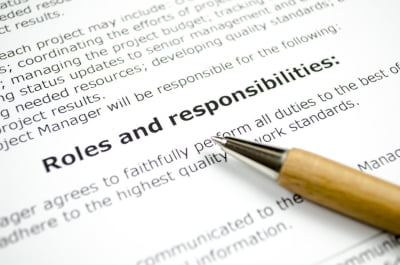 Image showing roles and responsibilities in Trusts