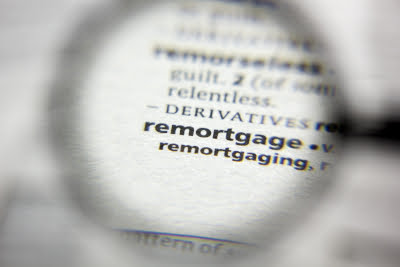 Inage of dictionary definition of re-mortgage